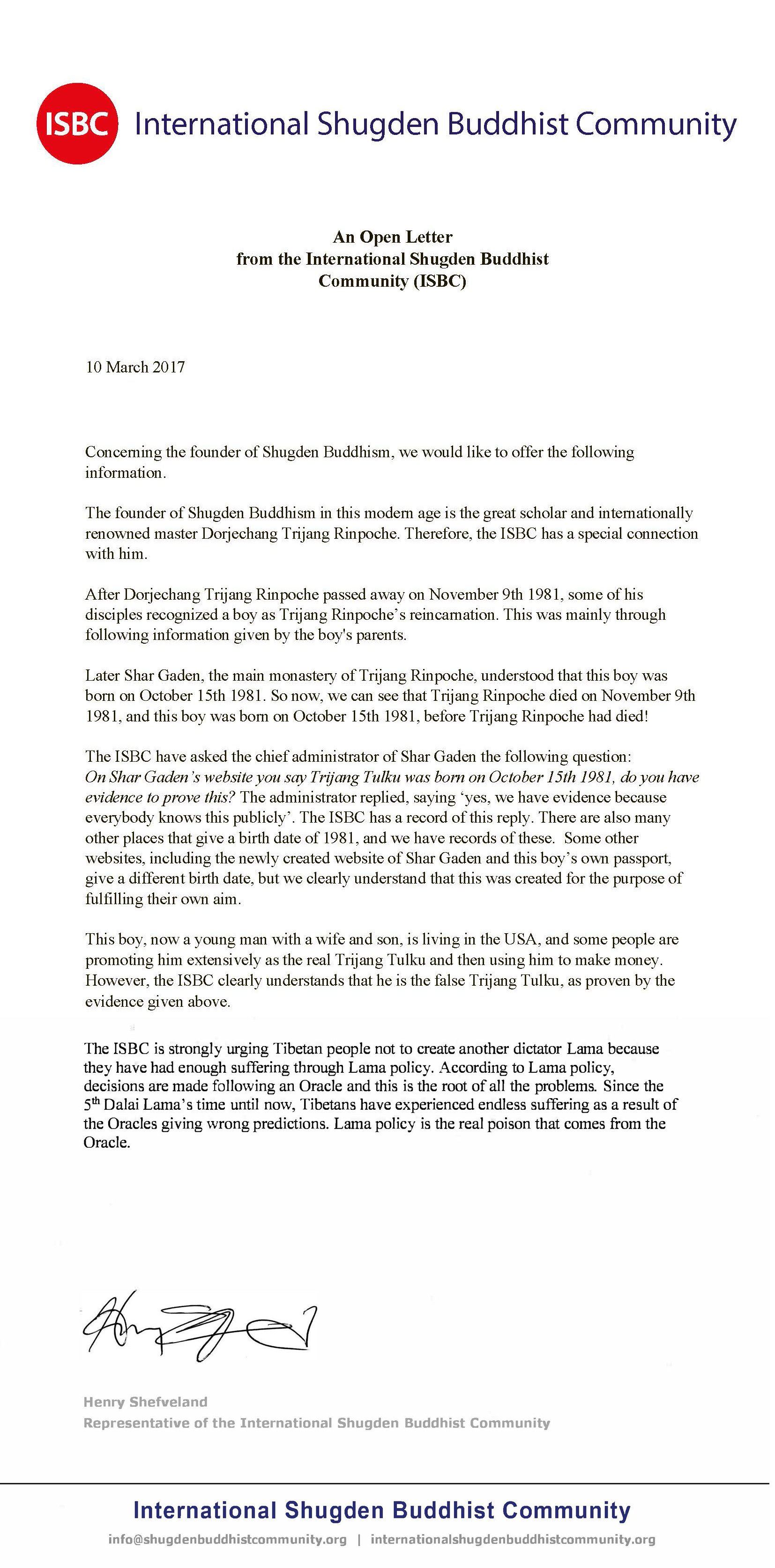 An open letter from the international shugden buddhist community an open letter from the international shugden buddhist community isbc thecheapjerseys Image collections