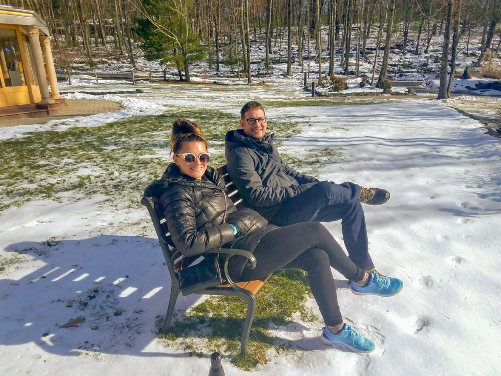 5-snowy bench