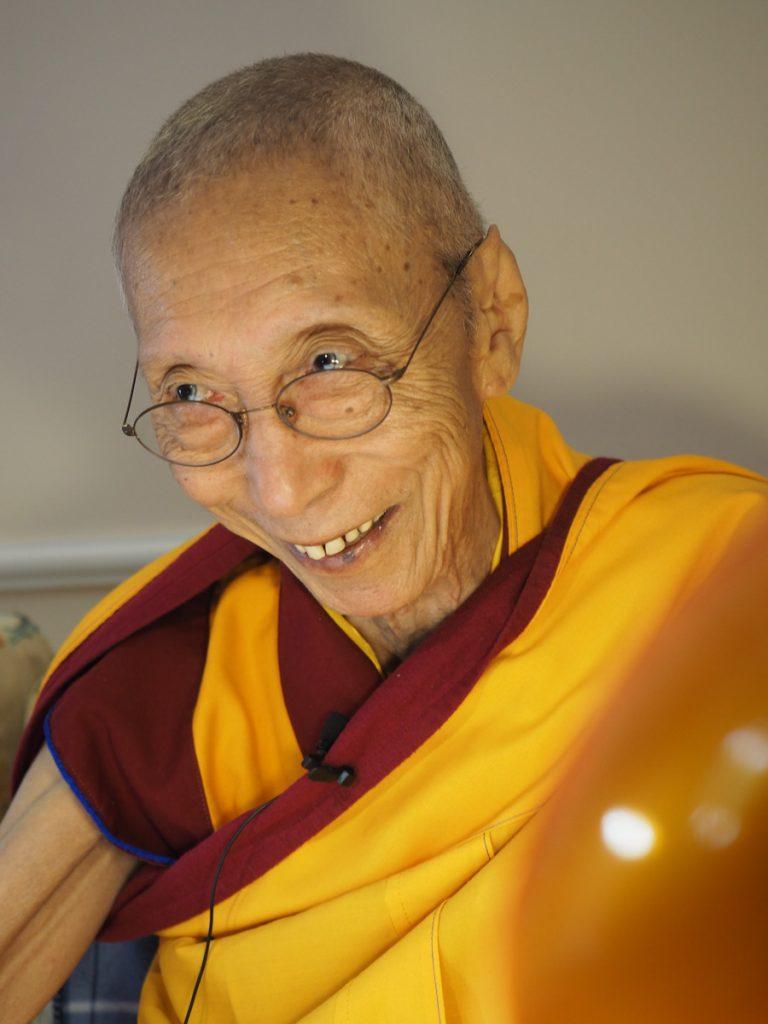 Geshe-la teaching mirror of Dharma