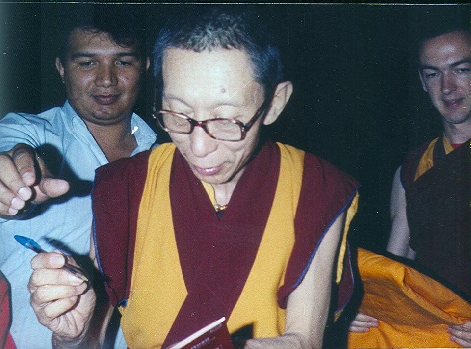 Venerável Geshe Kelsang Gyatso Rinpoche em Guadalajara, 1991
