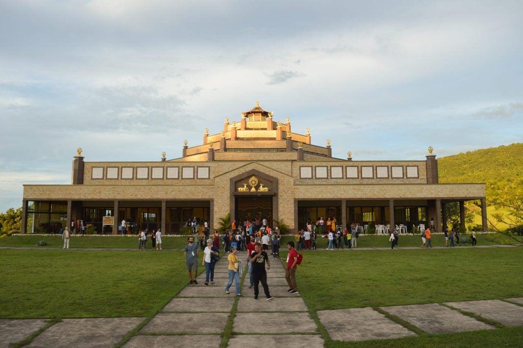 Brazil Temple Crowd Outside