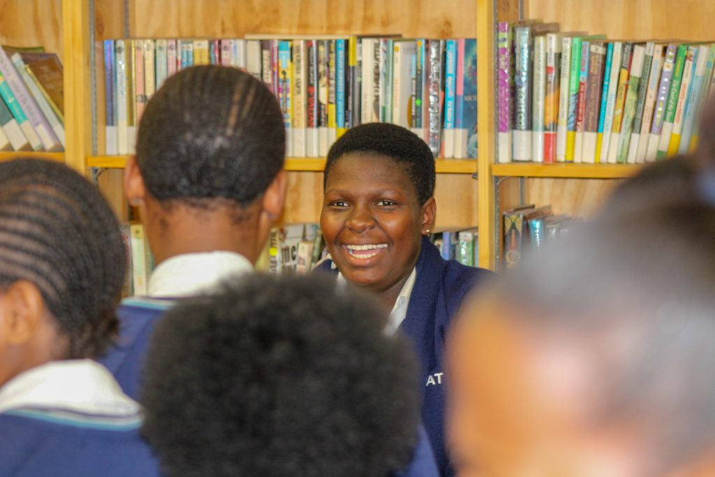 Student smiling africa