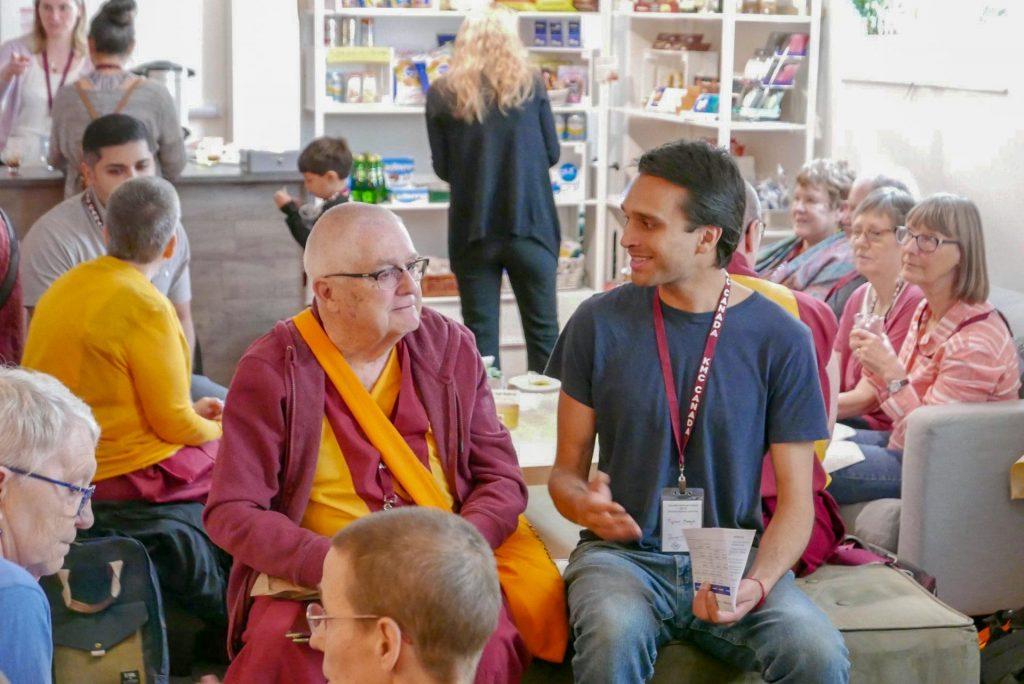 Monk chatting Toronto