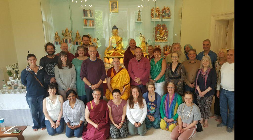 Group Rigpa meditation-hall