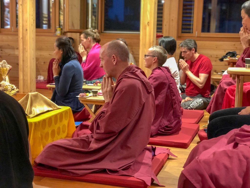 Group Praying with-Losang