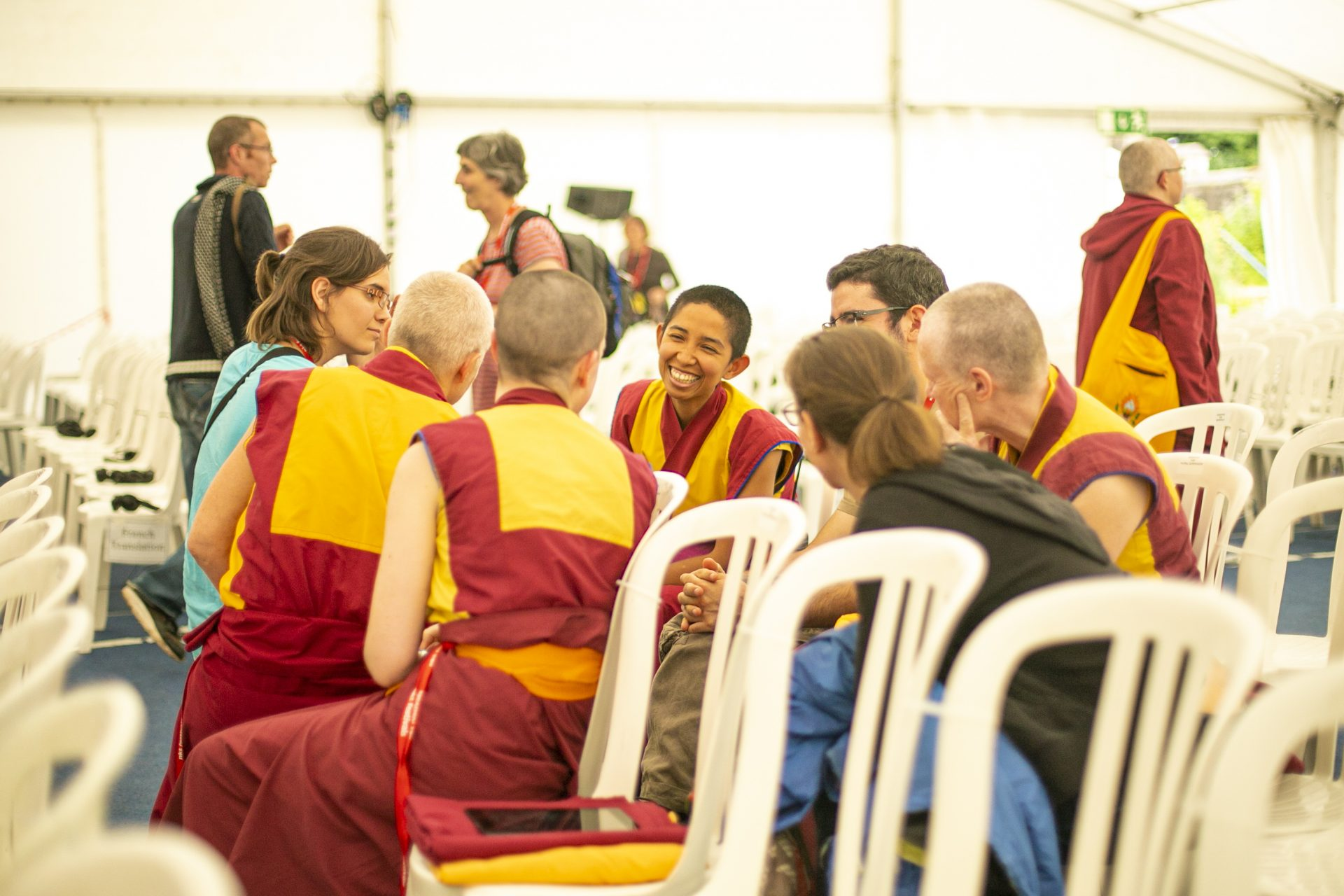 Sangha_discussing_festival
