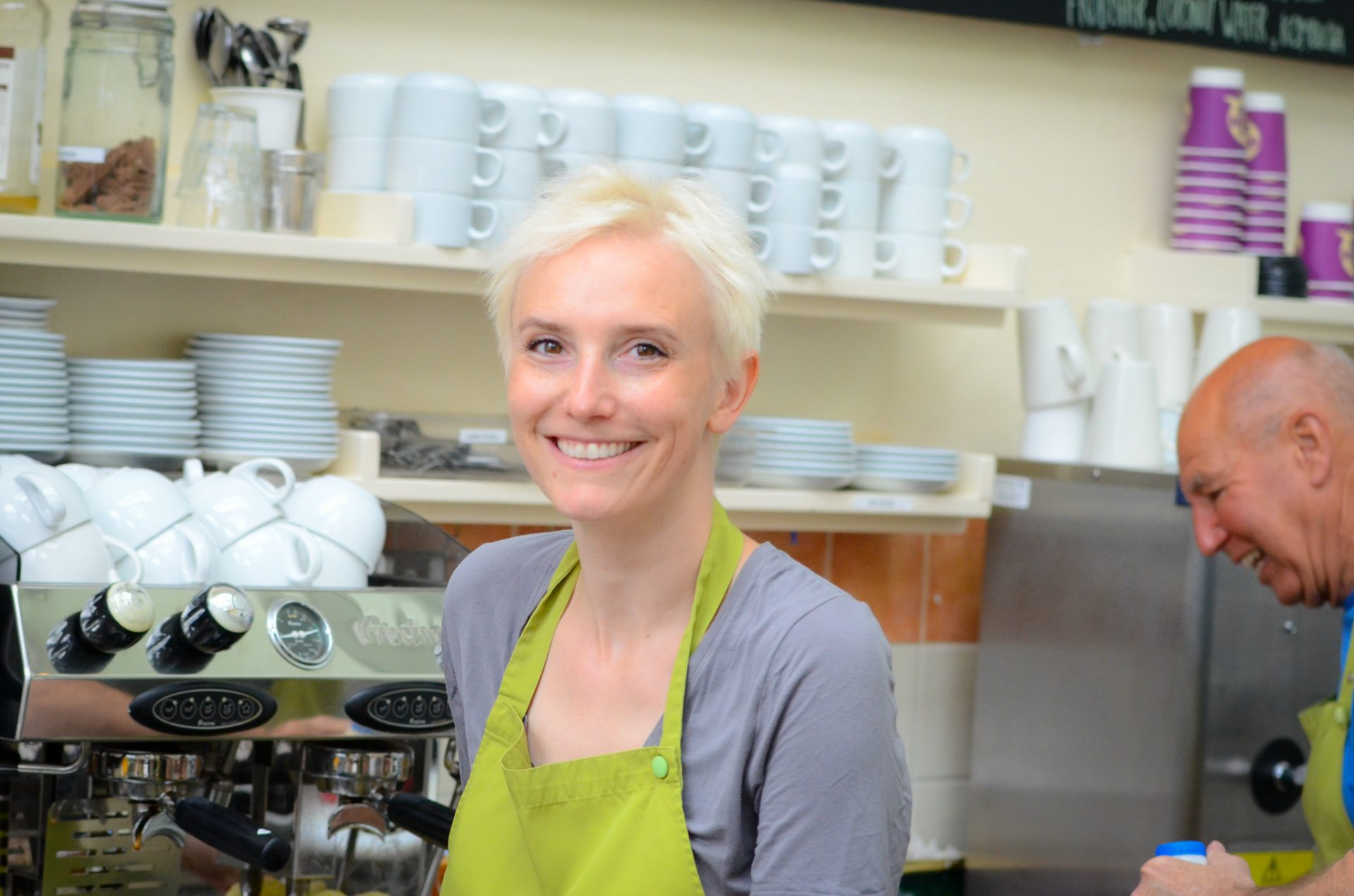 Teacher-working-cafe-Manjushri