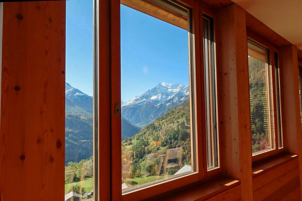 Mountain View Through Window_Switzerland