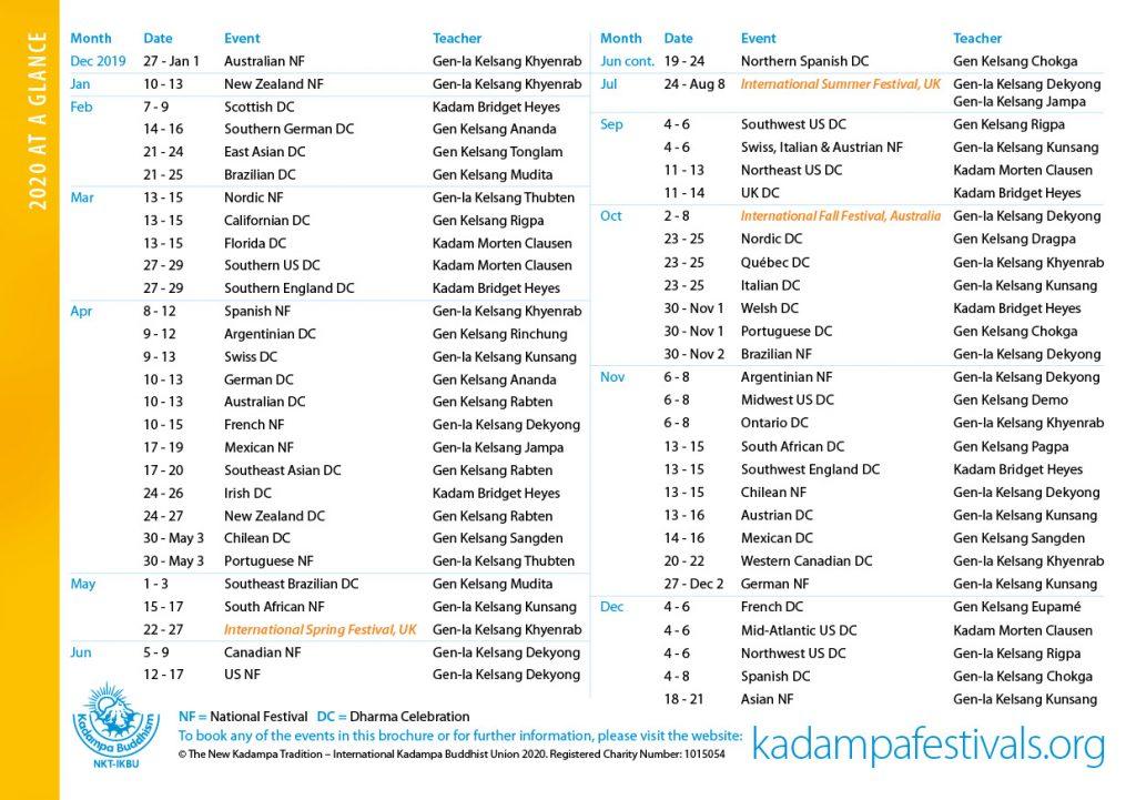 Kadampa Buddhism Worldwide Brochure 202036