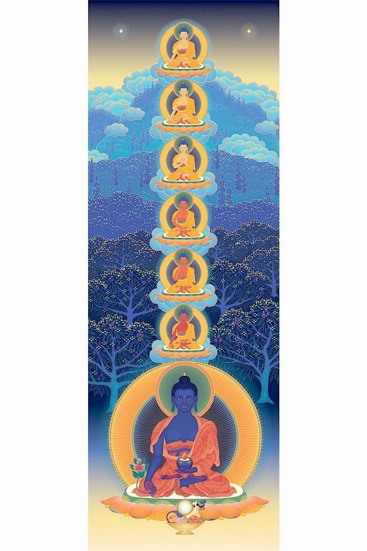 Die sieben Medizin Buddhas